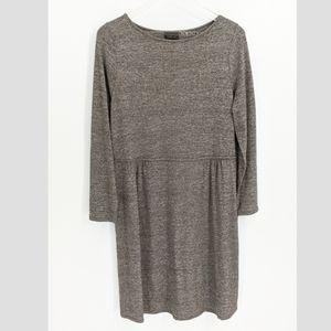J. Jill Wearever Collection Grey Long Sleeve Dress